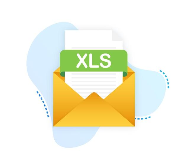 노트북 화면의 xls 버튼 다운로드 문서 개념 다운로드