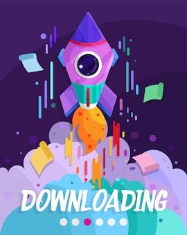 Downloading website page design