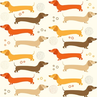 Doxie background pattern
