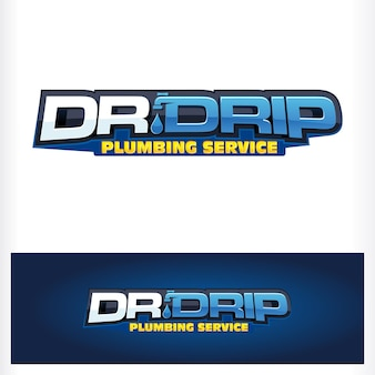 Логотип dr drop text typo Premium векторы