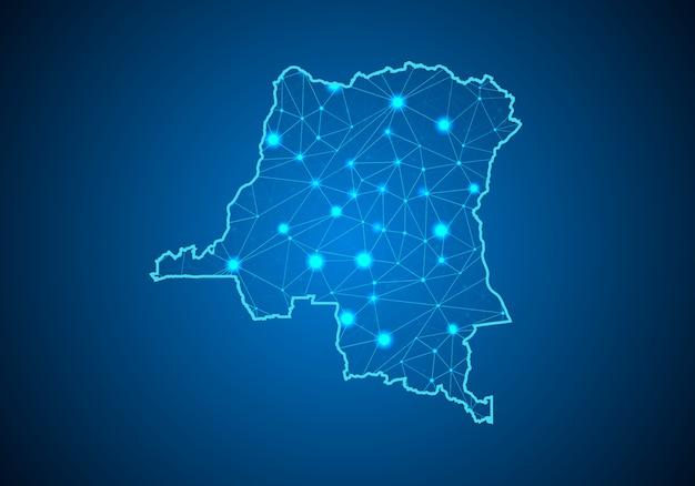 コンゴdrの地図。