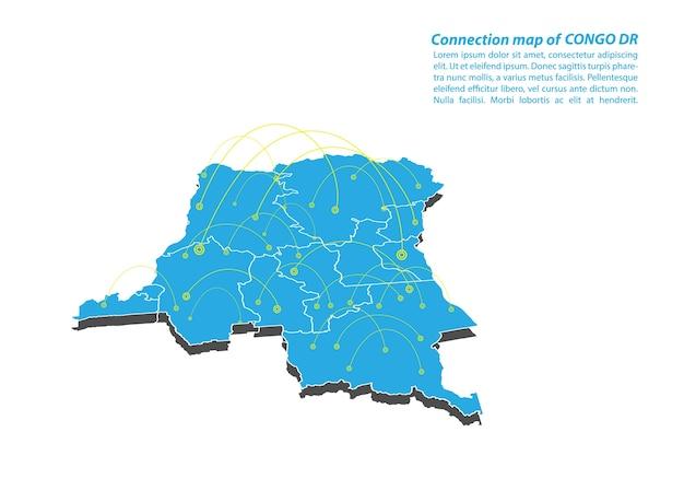 コンゴdrマップ接続ネットワーク設計の現代