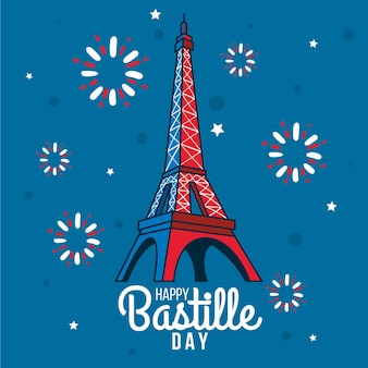 Draa with  bastille day