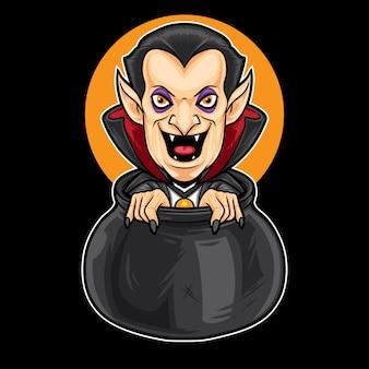 Dracula in a big pot
