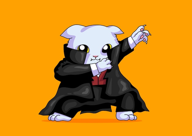 Дракула кот dabbing style смешно хэллоуин милый