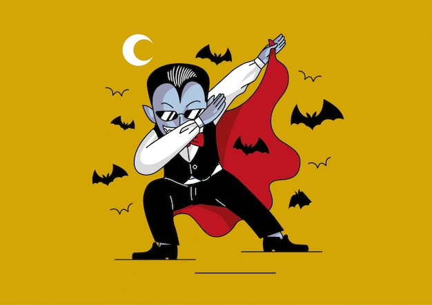 Дракула вытирает хабар хэллоуин милый