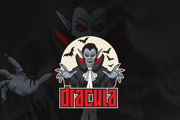 Dracula esport logo and mascot