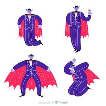 Dracula with cape and suit