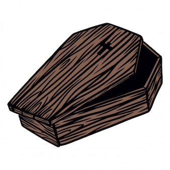 Dracula wooden chest