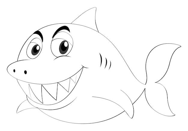 Animale da disegno per squalo