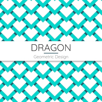 Dragon abstract geometric seamless pattern