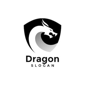 ドラゴンと盾のロゴ