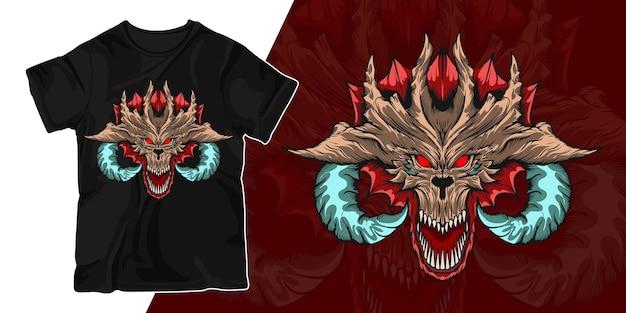 Дизайн футболки с изображением дракона