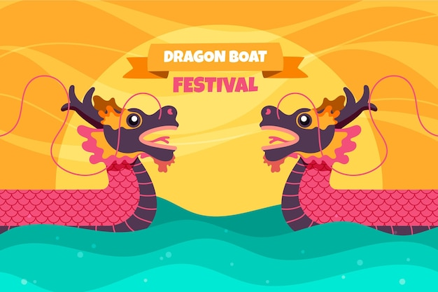 Dragon boat background design