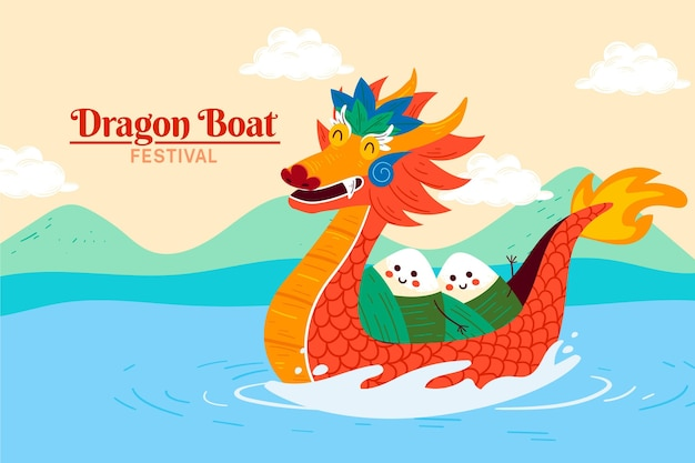 Dragon boat background