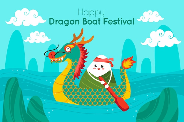 Dragon boat background