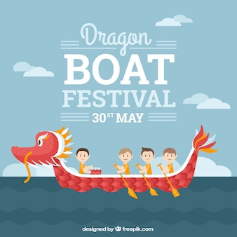 Dragon boat festival background