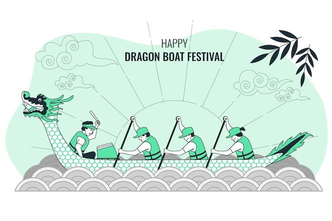 Dragon boat festivalconcept illustration