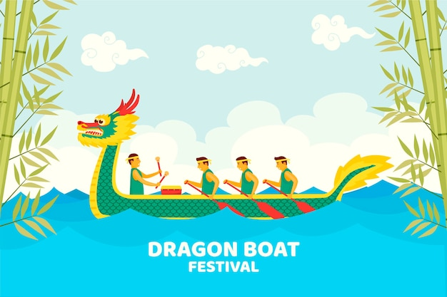 Dragon boats zongzi wallpaper theme