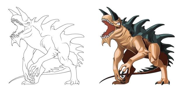 Раскраска мультяшный дракон для детей