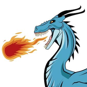 Значок мультфильма дракона. китайская азиатская фантазия и животное