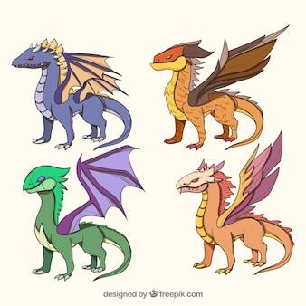 Коллекция персонажей драконов