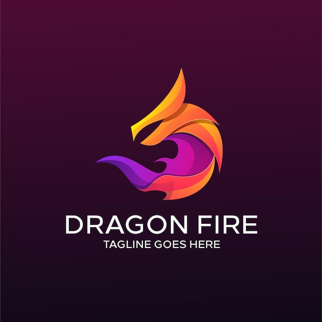 ドラゴンカラフルなロゴ