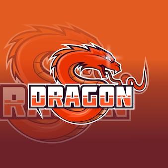 Дракон и спорт логотип вектор