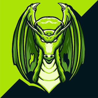 ドラゴンeスポーツのロゴイラスト