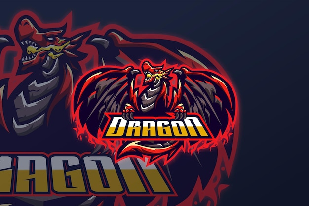 ドラゴン-eスポーツロゴテンプレート