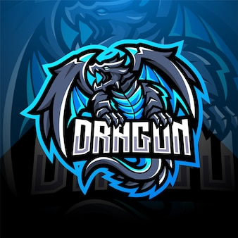 Dragon esport mascot logo design
