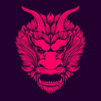 Иллюстрация искусства лица дракона
