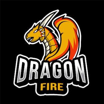 Dragon fire esport logo template
