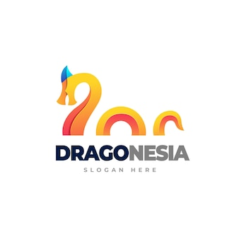 Dragon gradient logo template