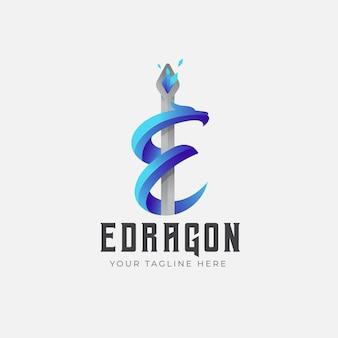ドラゴンのグラデーションロゴ