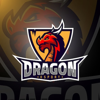 Dragon head gaming logo esport