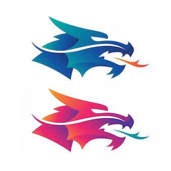 Логотипы головы дракона