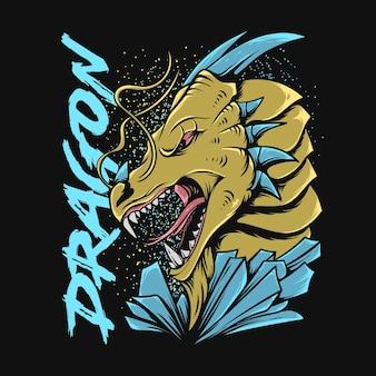 ドラゴンイラストtシャツデザイン