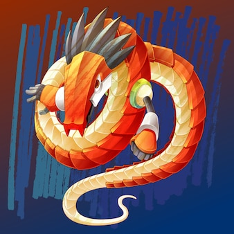 Dragon is fantastic animal character in fairy tale.