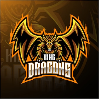 Dragon king mascot logo