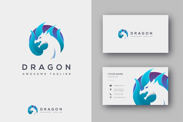 Dragon logo and business card