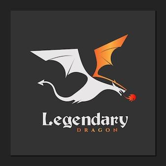 Dragon logo simple vector