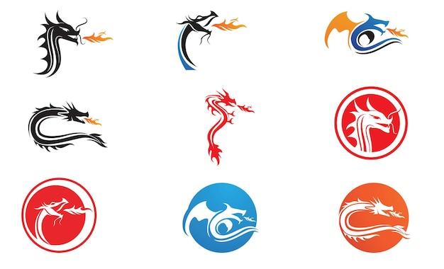 Dragon logo and symbol template vector