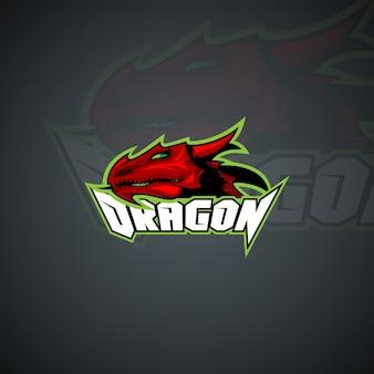 Dragon logo template. high resolution vector image