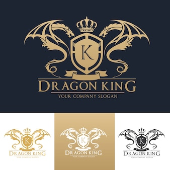 Шаблон логотипа логотипа dragon luxury.