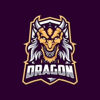 Dragon mascot in dark background
