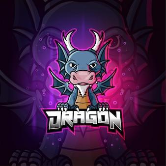 Дракон талисман киберспорт красочный логотип