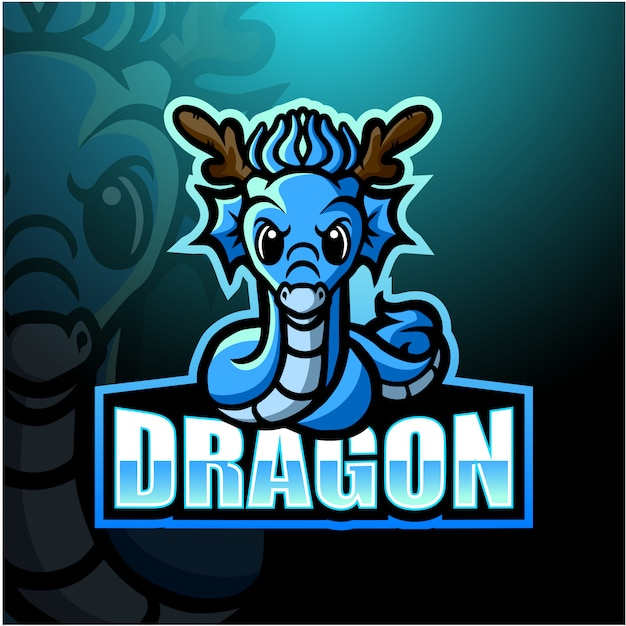 Dragon mascot esport illustration