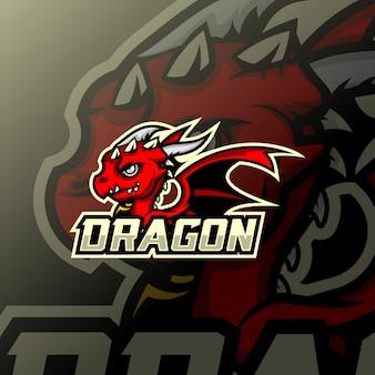 ドラゴンマスコットesportロゴ