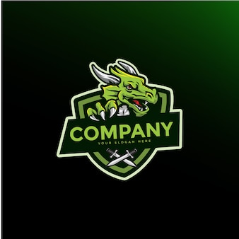 Dragon mascot gaming logo